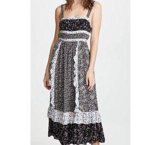 Free People Yesica Midi Cottagecore Dress Size 0